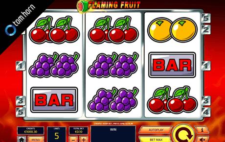 flaming fruit spielautomat - tom horn gaming