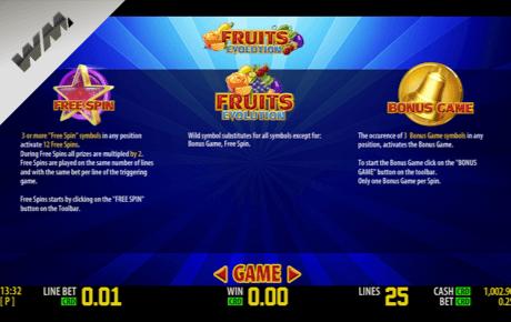 fruits evolution spielautomaten - world match