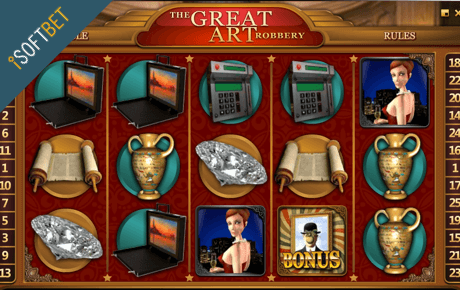 the great art robbery spielautomat - isoftbet