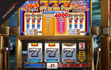 triple flaming 7s spielautomat - wgs technology vegas technology