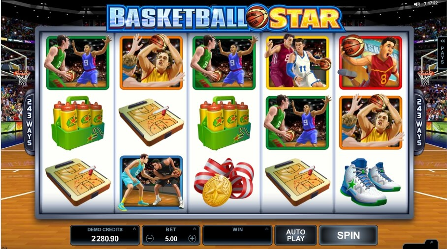 basketball star spielautomat - microgaming