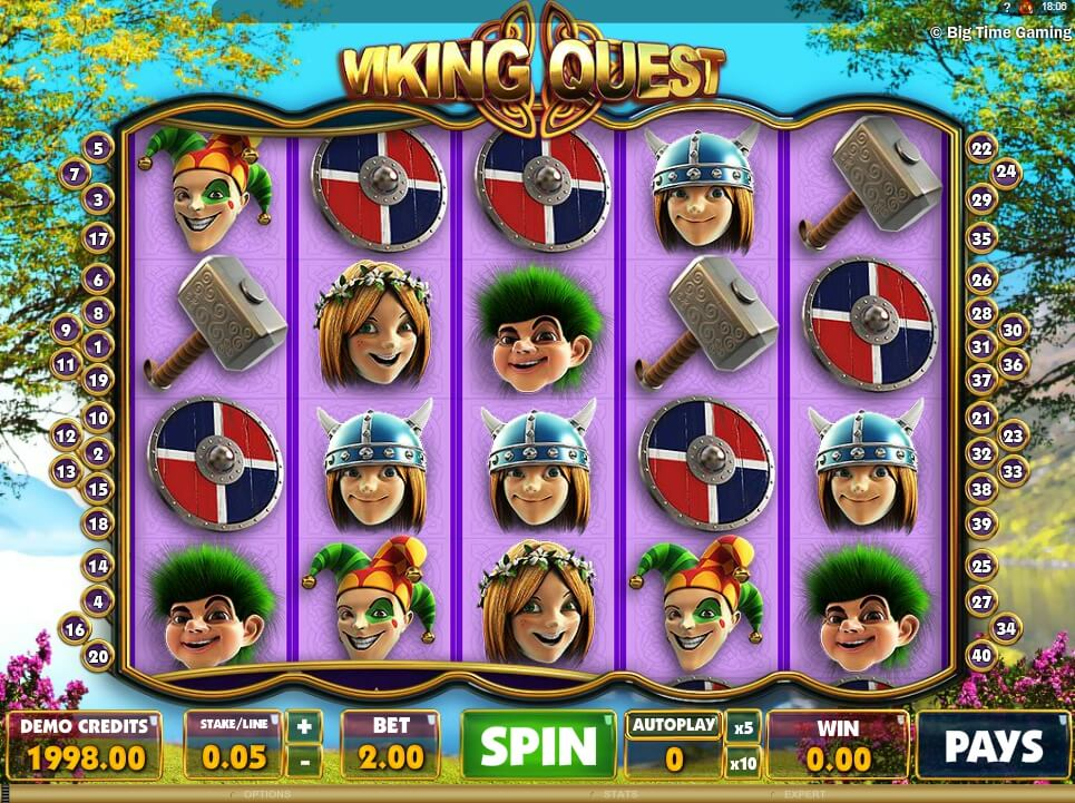 vikings quest spielautomat - microgaming