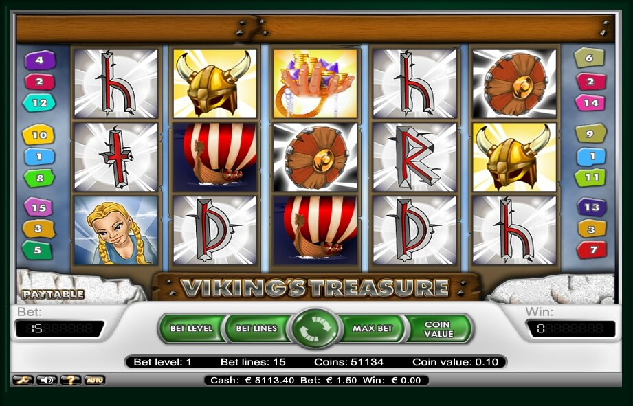 vikings treasure spielautomat - netent
