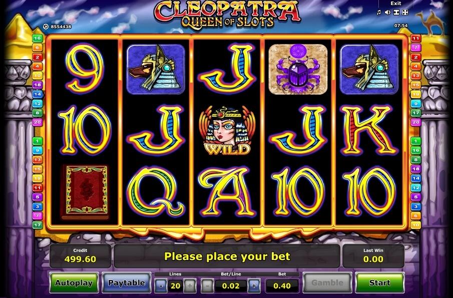 cleopatra queen of slots spielautomat - novomatic