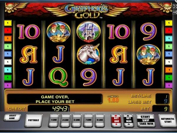 gryphons gold spielautomat - novomatic