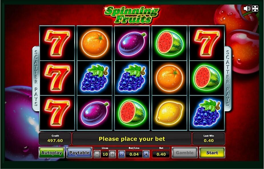 spinning fruits spielautomat - novomatic