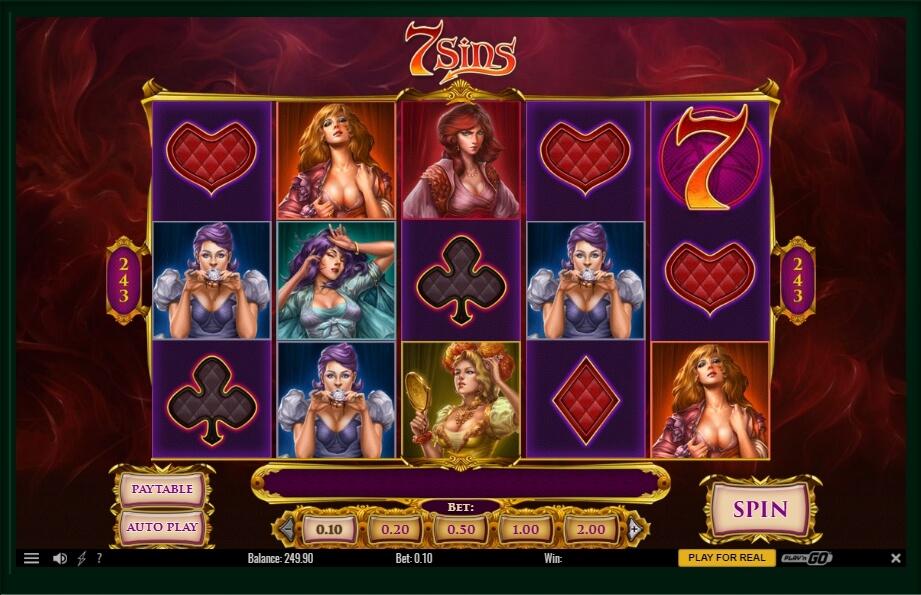 7 sins spielautomat - playn go