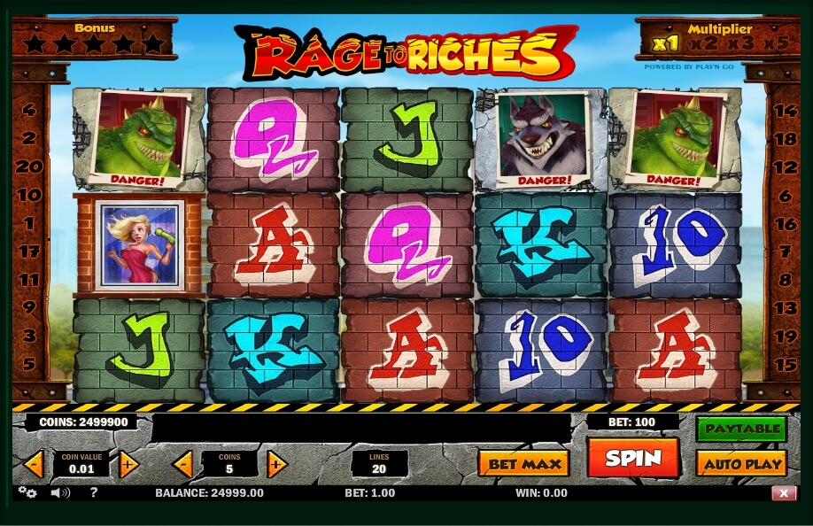 rage to riches spielautomat - playn go