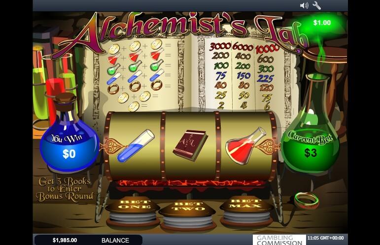alchemists lab spielautomat - playtech