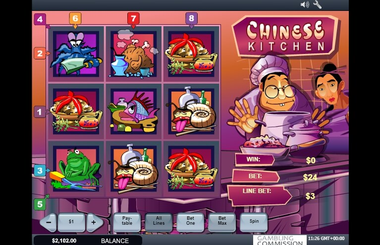 chinese kitchen spielautomat - playtech