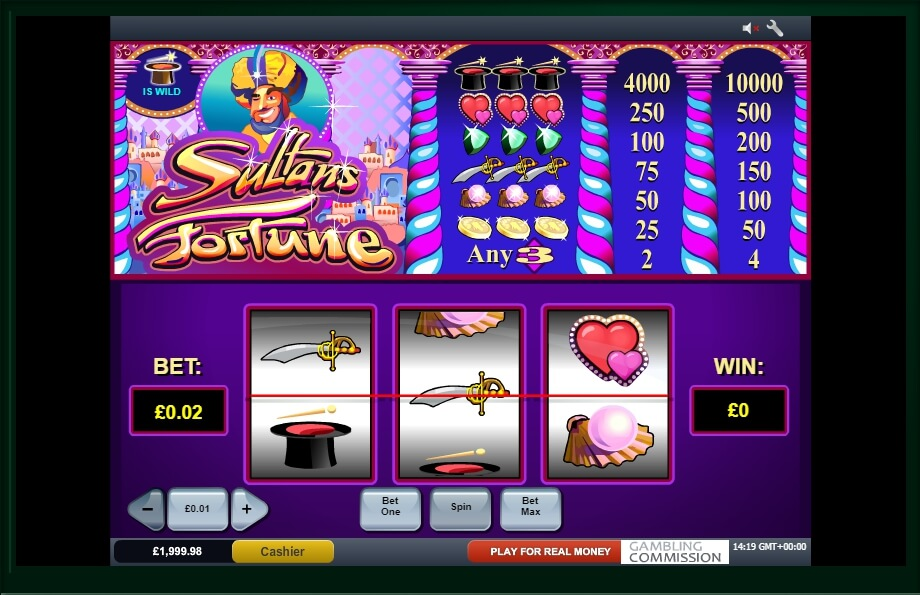 sultans fortune spielautomat - playtech