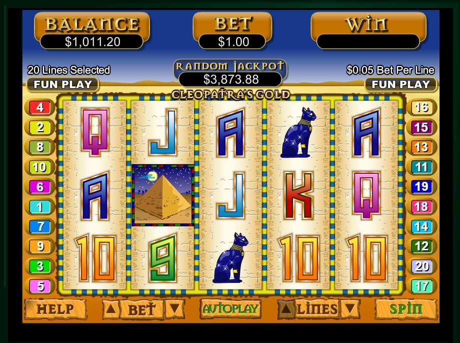 cleopatras gold spielautomat - real time gaming
