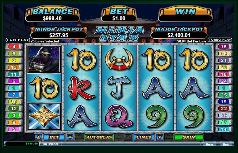 ninja star spielautomat - real time gaming