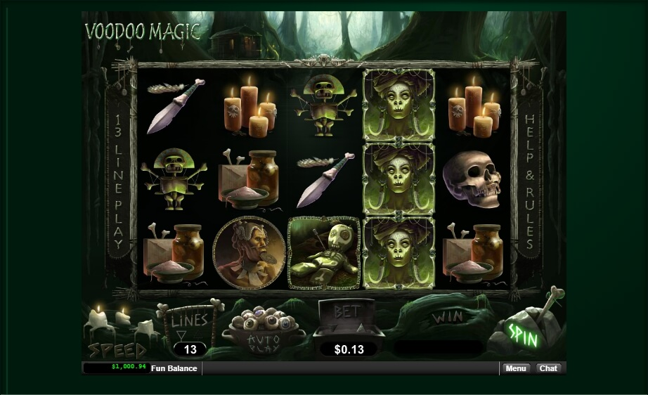 voodoo magic spielautomat - real time gaming