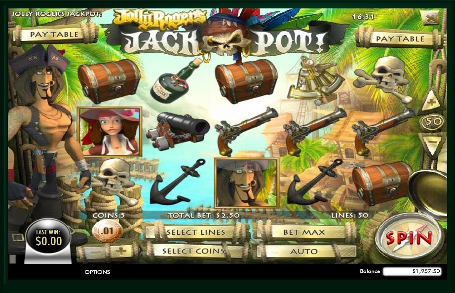 jolly rogers jackpot spielautomat - rival