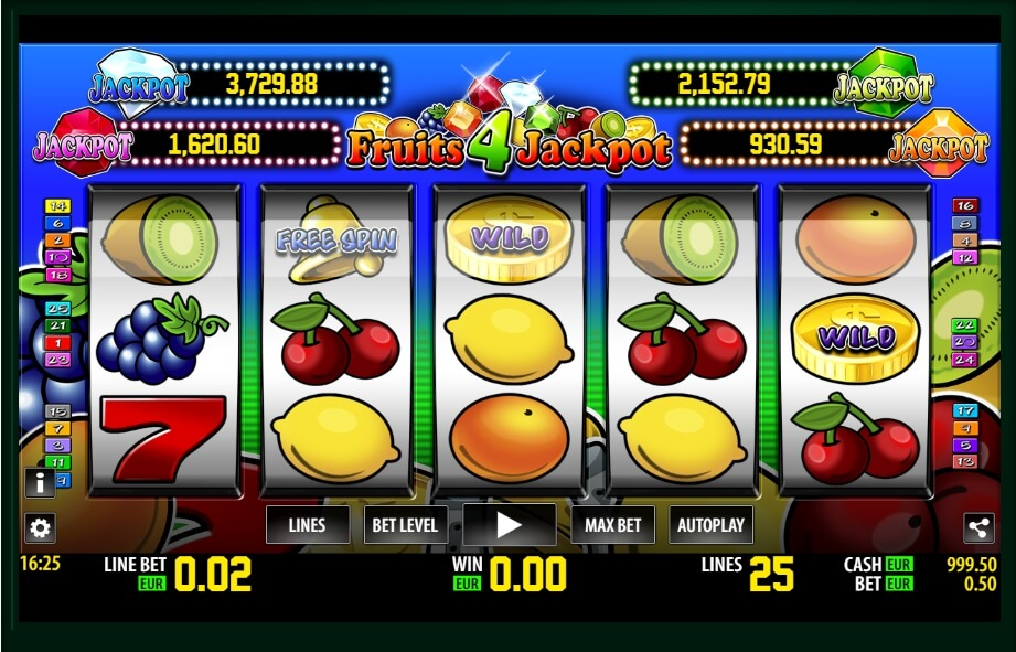 fruits 4 jackpot spielautomat - world match