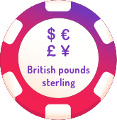 british pounds sterling casinos logo