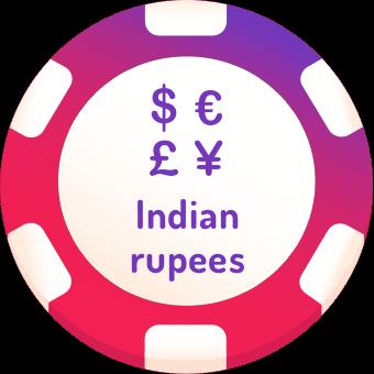 indian rupees casinos logo