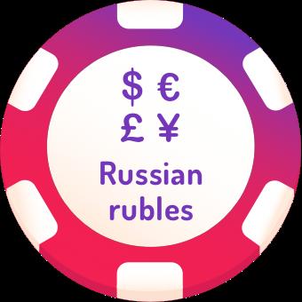 russian rubles casinos logo