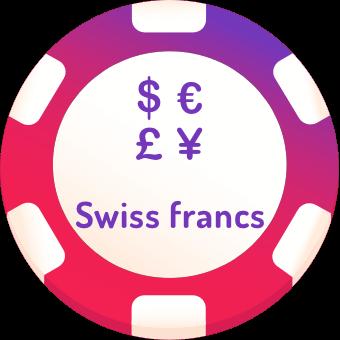 swiss francs casinos logo