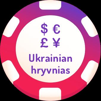 ukrainian hryvnias casinos logo